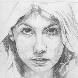 Human face sketches pencil